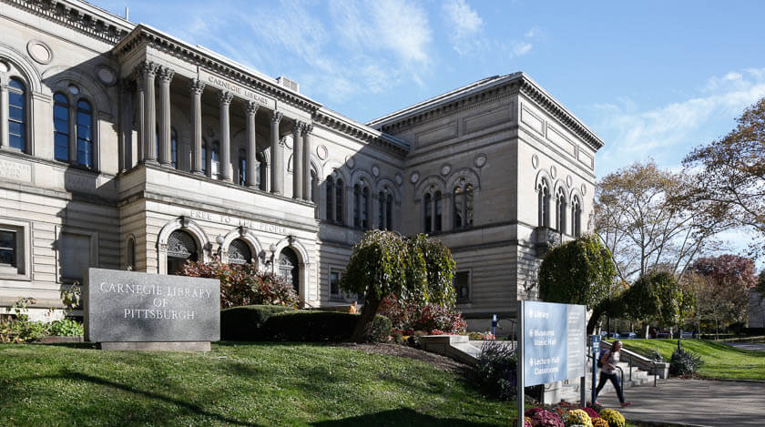 exterior of Main Library in Oakland
