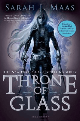 """Cover for """"Throne of Glass"""" by Sarah J. Maas"""