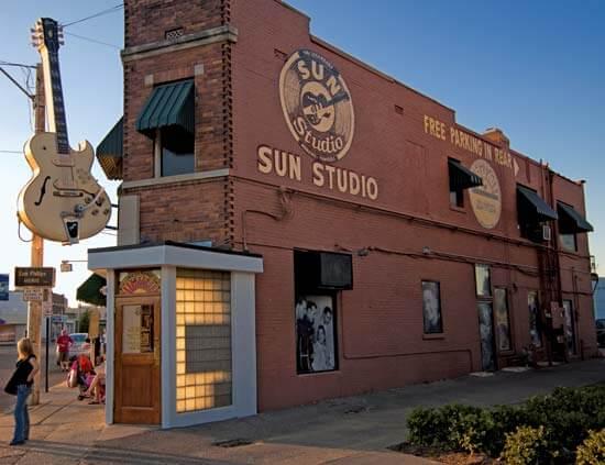 Outside of Sun Studio in Memphis, TN