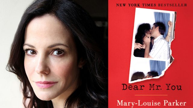 Mary Louise Parker and her book cover