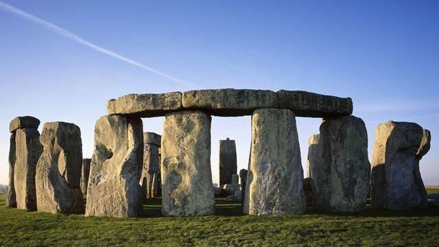 Stonehenge on a clear day.