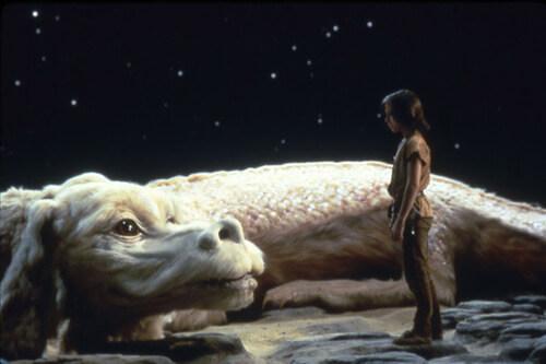 Atreyu meets Falkor the luck dragon.