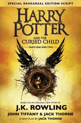 Cover of the book, Harry Potter and the Cursed Child.