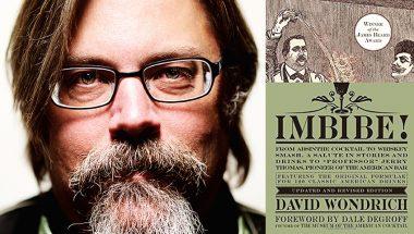"David Wondrich and his Book Cover ""Imbibe"""