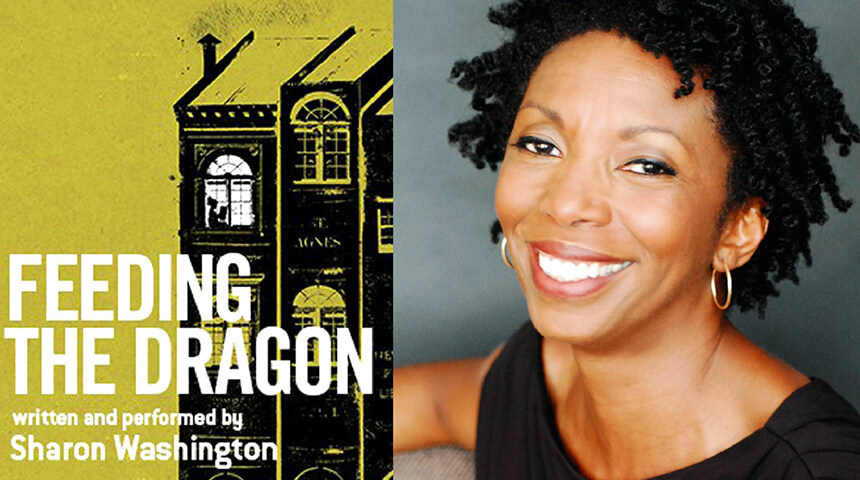 "Sharon Washington and the cover of ""Feeding the Dragon"""