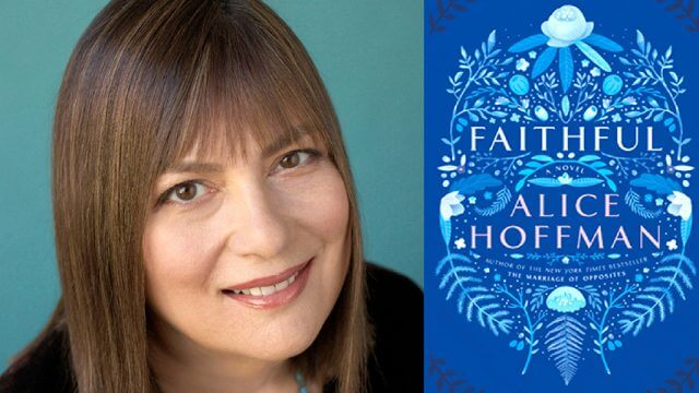 Alice Hoffman and her book cover