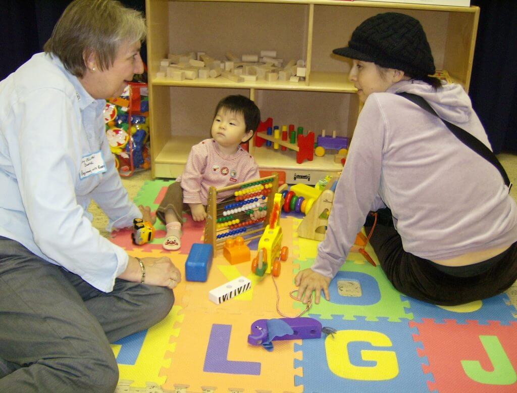 Playing with toys at Family Playshop