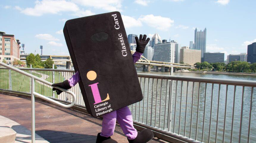 Library Card Mascot in Pittsburgh