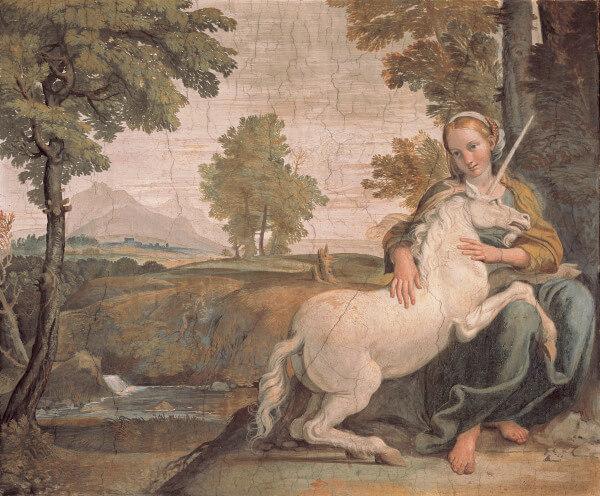 Domenichino / Maiden and Unicorn / 1602