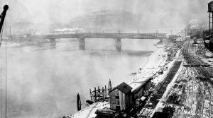 Old Photo of 43rd Street Bridge in Lawrenceville Pittsburgh