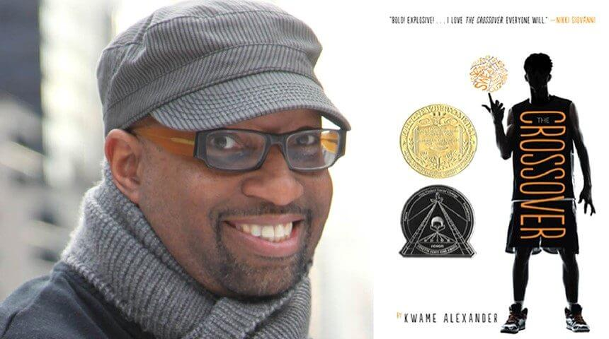Kwame Alexander and his book, The Crossover