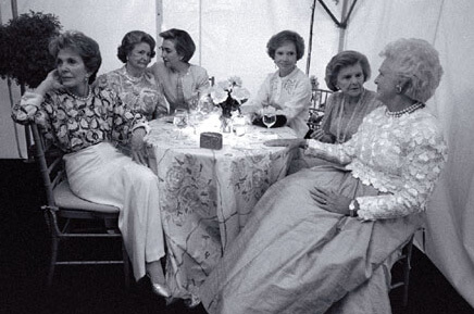 Photograph of all the living First Ladies in 1994.