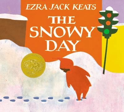 Book cover for The Snowy Day.