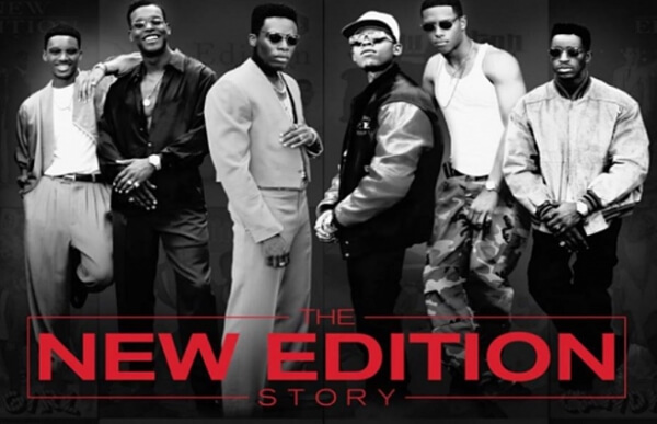 publicity shot of the case of The New Edition Story