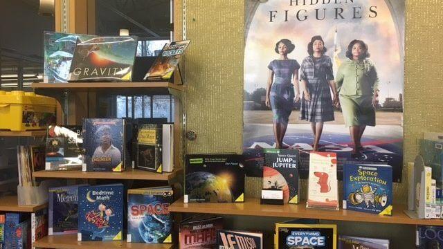 Book display for Hidden Figures