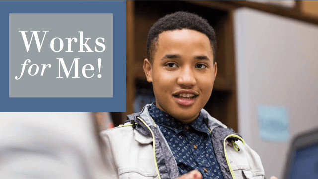 Works for me logo with teen