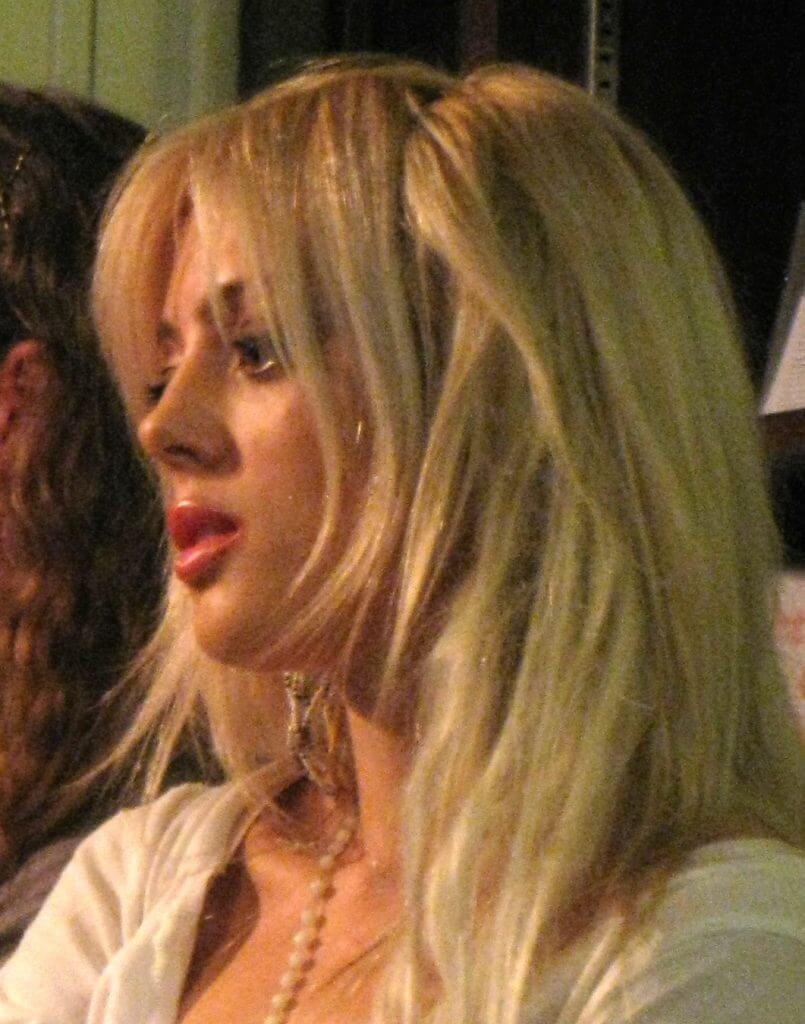 Cat Marnell at a panel in 2012. Photo from the Wikimedia Commons.
