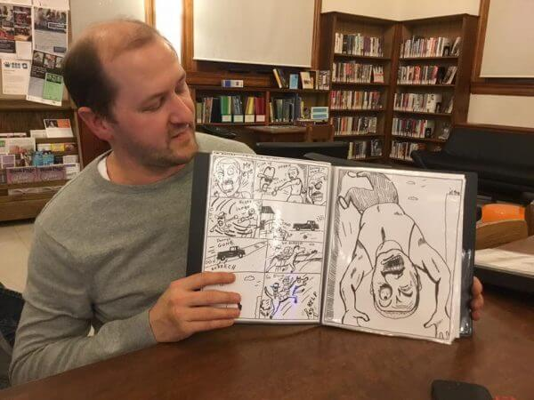 Zach Biden, Showing off his comic