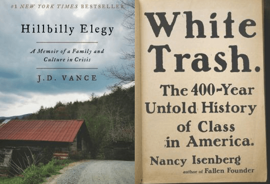 covers for Hillbilly Elegy and White Trash
