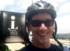 Justin at the Mt. Washington Library