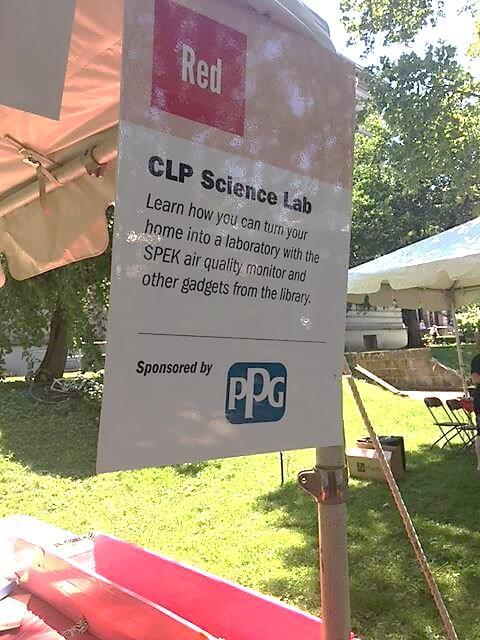 Science lab tent at Extravaganza