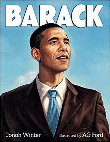 Cover art for Barack by Jonah Winter