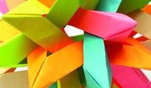 3D origami star