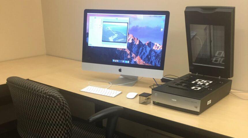 Slide scanner and Mac computer
