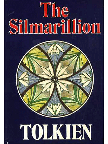 The cover of the Silmarillion, with a flower and leaf design