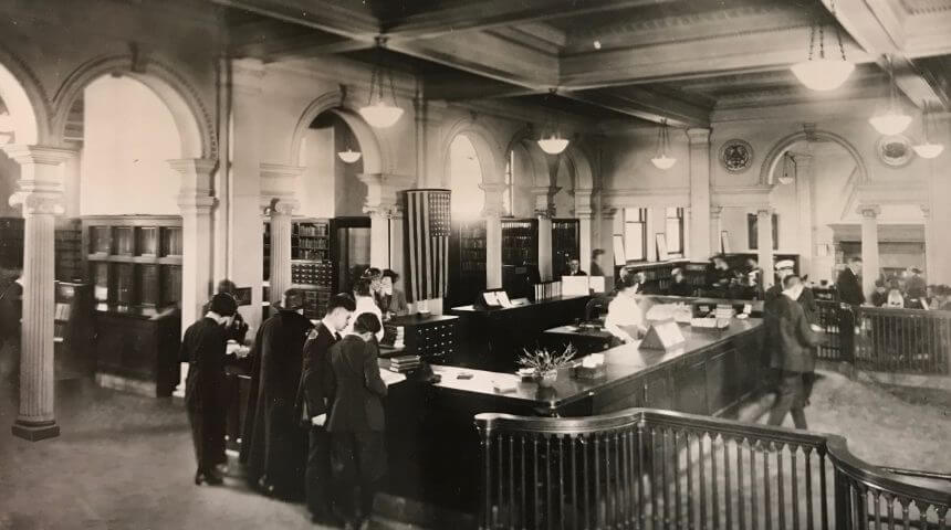 Central lending, Carnegie Library Pittsburgh, 1912