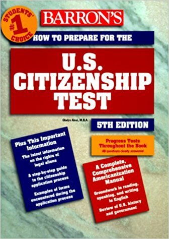 Front cover of Barron's US Citizenship Test