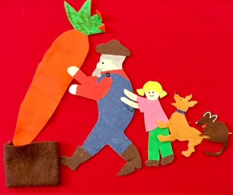 The felt story, Giant Carrot.