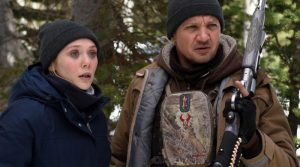"The stars of the movie ""Wind River."""