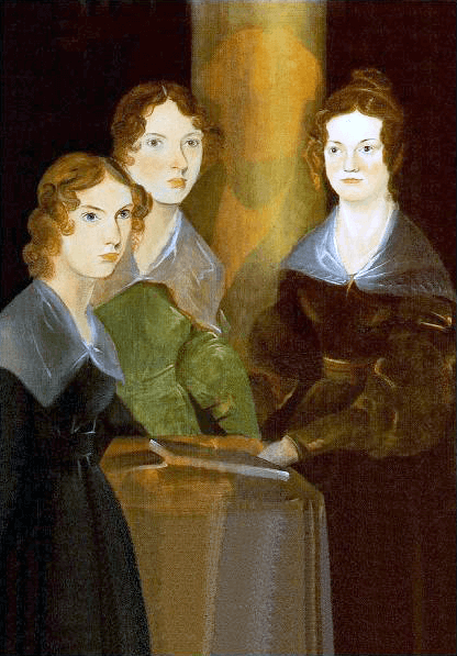 Painting of three women in 19th century clothing