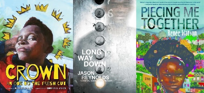Covers of the Newbery Honor winning books.