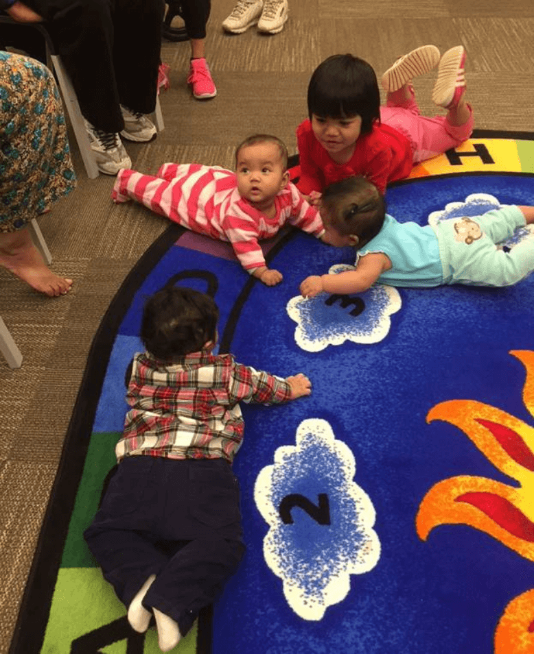 Babies and big sister made friends at CLP – Knoxville.