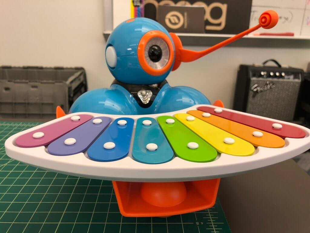 Explore a musical robot during Remake Learning Days.