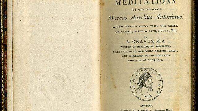 A copy of Meditations