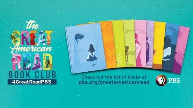 Book covers and the logo to the PBS show the Great American Read