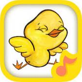 An icon of a yellow bird with a music note