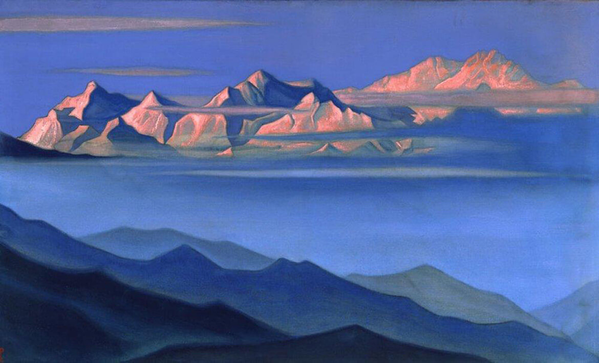 A Painting of the Himalayan Mountains by Nicholas Roerich