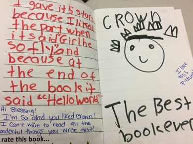 A student book review from a BLAST visit.