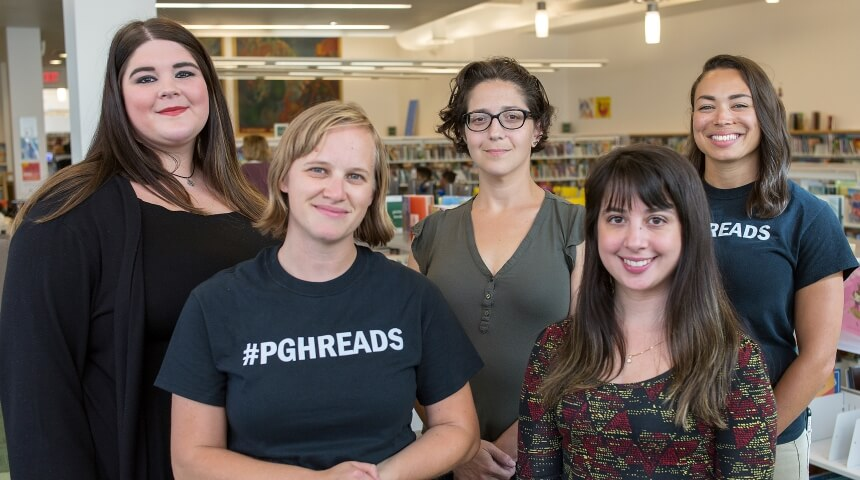 Five BLAST librarians pose for a group picture