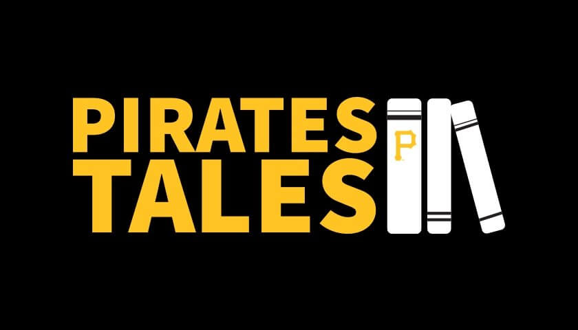 Pirates Tales logo in gold on black background