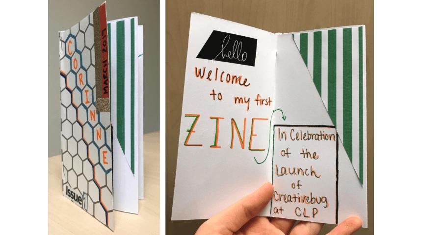 details of Creativebug zine project