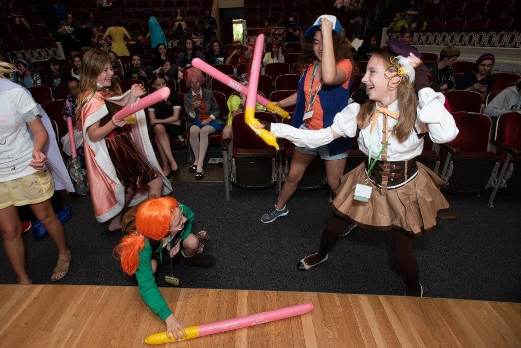Teens having fun a PhenomeCON.