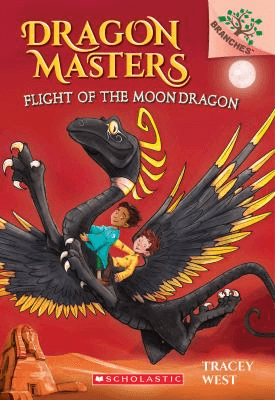 Cover of the book, Dragon Masters, Flight of the Moon Dragon.