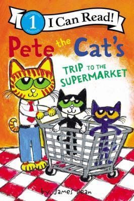 Cover of the book, Pete the Cat's Trip to the Supermarket