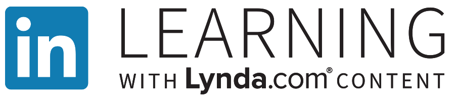 "logo for LinkedIn Learning. Text reads ""LinkedIn Learning With Lynda.com."""