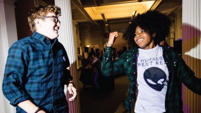 Teens enjoying Alternative Homecoming
